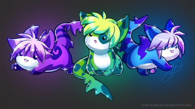 Trio of Buudlez by yamer