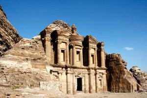 The Monastery at Petra by Loey-M