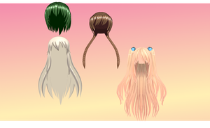 MMD Angel Cure Hair pack 1 by amiamy111