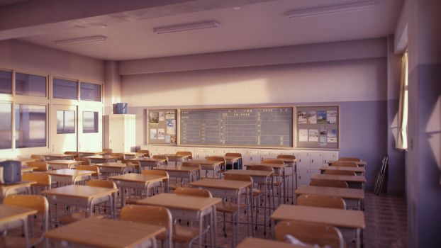 Classroom (Evening B) by iCephei
