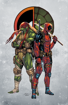 TMNT Raphael and Deadpool by AlonsoEspinoza