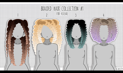 Braided Hair Collection #1 [ Export ] by PeachMilk3D