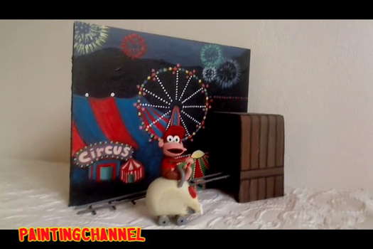 Donkey Kong Country 2 Model - Rollercoaster level by pauline86