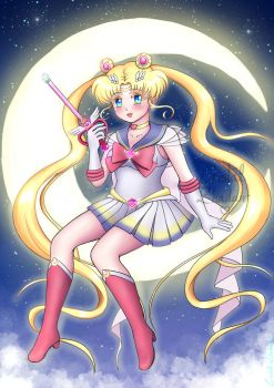 Super Sailor Moon by Cristal-Zhaduir