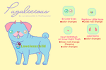 NEW SPEICES!!!! Pugalicious Ref sheet by lovelesschild