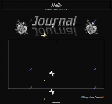 Butterfly Journal skin Animated by VladNoxArt