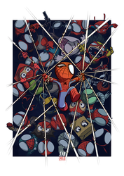 Spiderman and the Spiderverse by ilustrajean