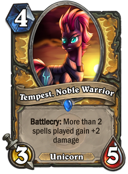 Tempest, Noble Warrior - Minion Card by Pennywise33