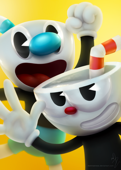 Cuphead and Mugman by MatMadness