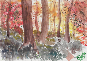 Autumn forest by SulaimanDoodle