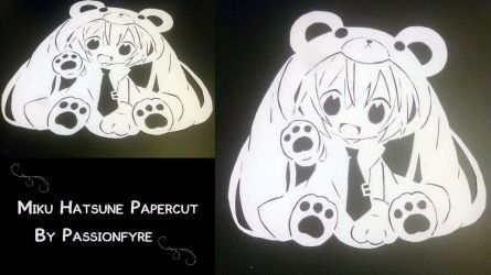 Miku Hatsune Papercut 2nd by passionfyre