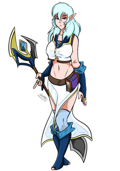 Lily the Frost Mage by Prosterguy