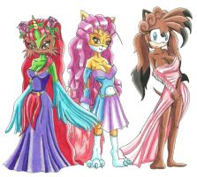 Goddesses and Phoenix Mother by RachelGilber