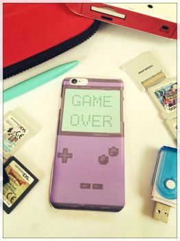 Game Over - Pixel art Gameboy iPhone Case by SugarHit