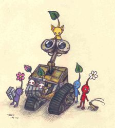 Wall.E meets the Pikmin by who-stole-MY-name