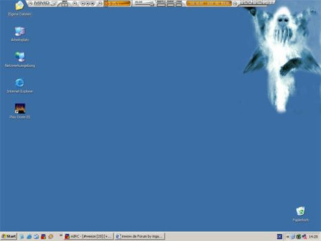 just a blueish desktop by anapaest