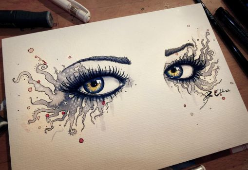 Eyes of a Vampire by PixieCold