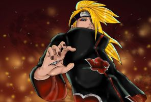 Deidara-senpai by Salty-art