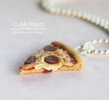 Pepperoni Pizza Necklace by Cutetreatsbyjany