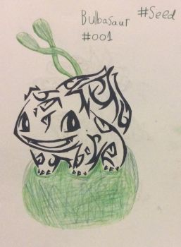 Bulbasaur (Tribal Tattoo), The Seed Pokemon by Minkiepieisbadass