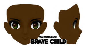[MMD Parts] - Face - Brave Child Face (+dl) by ColorsOfOrion