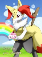 FAN-Braixen: Only for you,Master~