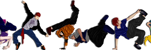 Akatsuki Break Dancers by EmoIsTheNewHappy