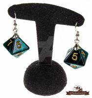 Earrings dice 1 by AtelierDesChimeres