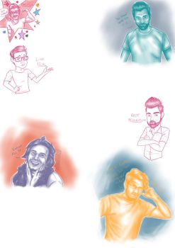Drawing youtubers by Traco