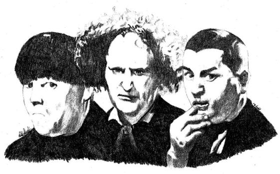 3 stooges by metalliphil