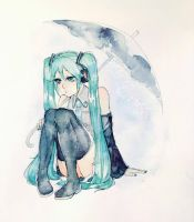 Rainy Miku by Fareasai