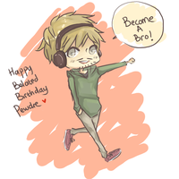 Happy belated birthday Pewdie by Yaaju