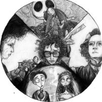 Tim Burton -mandala- by 9Timothy9