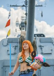 Nami and Chopper, Time Skip - One Piece Cosplay by firecloak