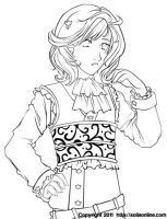 Coloring Page: Vicky by SoliaArtTeam