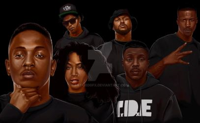 TDE Digital Painting by fat-jedgfx