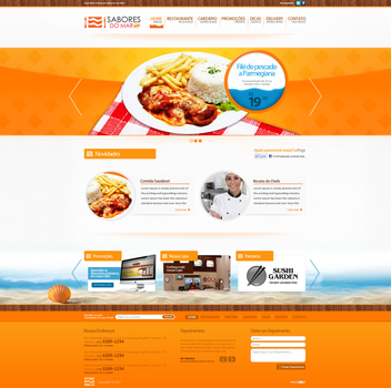 Website - Sabores do Mar / fastfood by jrsv15