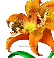 The Orange Lily Fairy by anyatagomachii