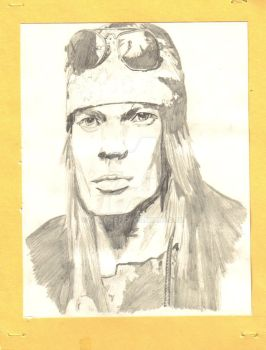 Axl Rose Pencil Drawing by musehick