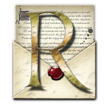 Steampunk R Open Envelope Icon by yereverluvinuncleber