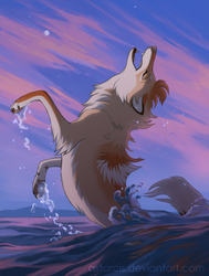 Tenza, a Wolf of Water by Astarcis
