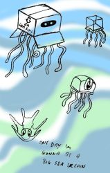 Box jellyfish, hopeful pluteus by dante-kimachi
