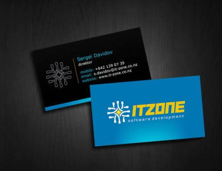 it zone business card by mashine