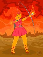Flame Archery by Kairu-Hakubi