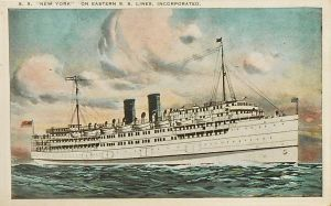 S.S. New York - Eastern Steamship Lines by Yesterdays-Paper