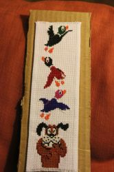 Duck Hunt Bookmark by StitchPlease