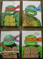 Nick TMNT Sketchcards Colored by TMNT1984