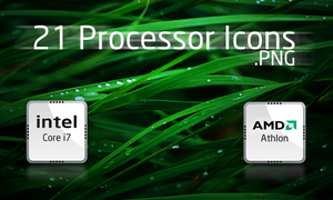 Intel-AMD Processor icons+PSD by aasifaalamkhan
