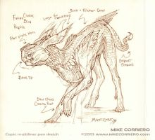 Manticore Sketch by MIKECORRIERO
