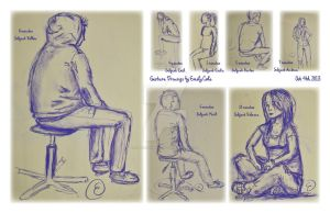 Gesture Drawing Exercise by EmersonWolfe